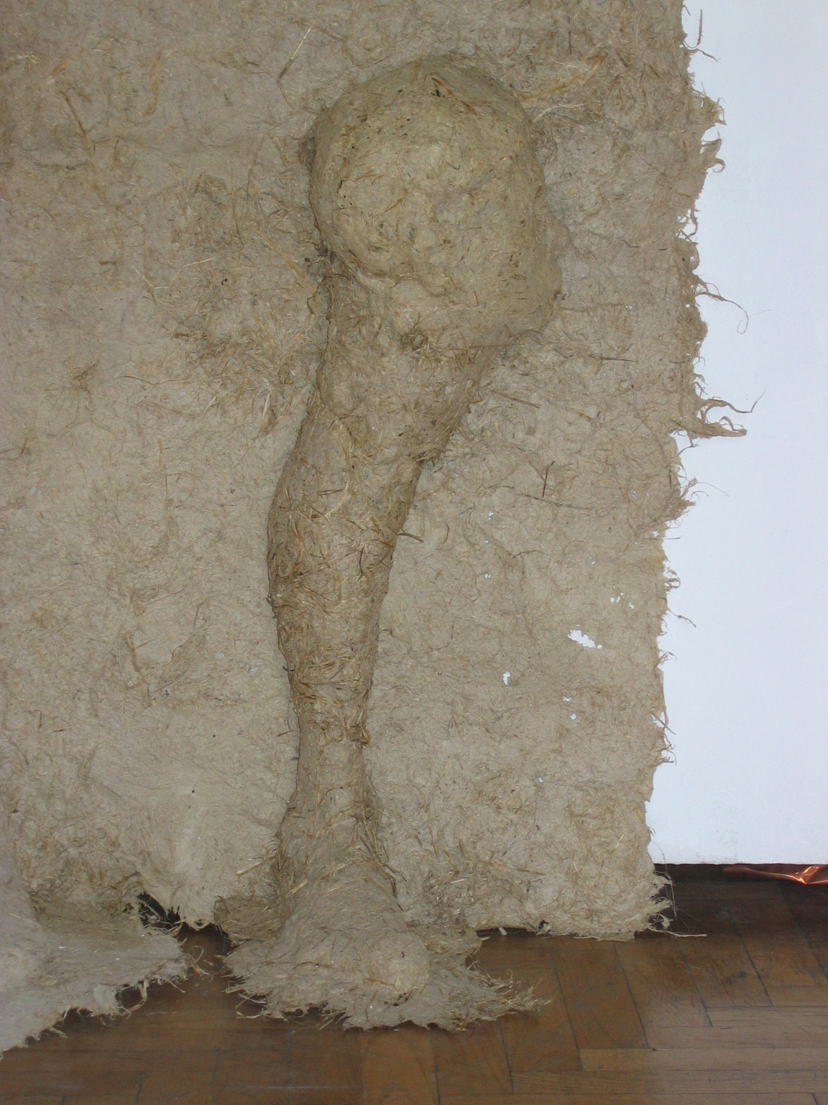 "Dismembered, 2005, Handmade Paper, 55""x80""x10"""