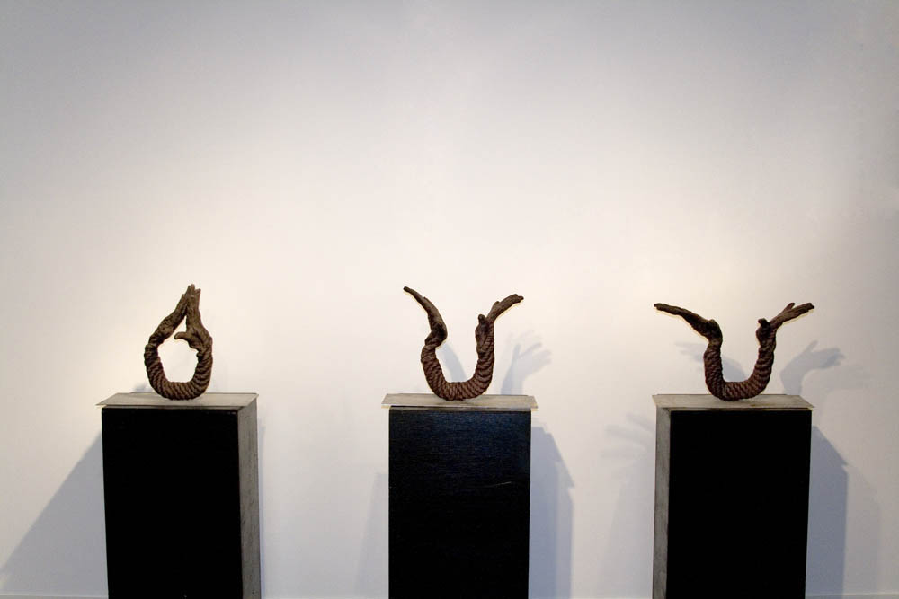Opening, 2007, 3 elements, 50 cm x 40 cm x 20 cm, Fired Ceramic