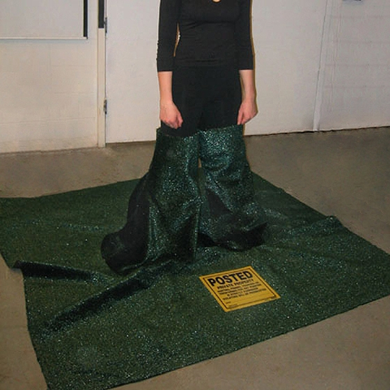 My Space, 2002, Astroturf, 2 meters x 2 meters x 30 in.