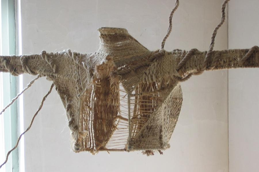 Rope Torso, 2005, Dimensions Variable, Welded Armature, Woven Hemp Rope, Twine, Sisal Rope, String (detail)