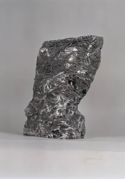 """Bound Torso, 2003, 10"""" x 18"""" x 6,"""" 25 cm x 46 cm x 16 cm, Aluminum"""