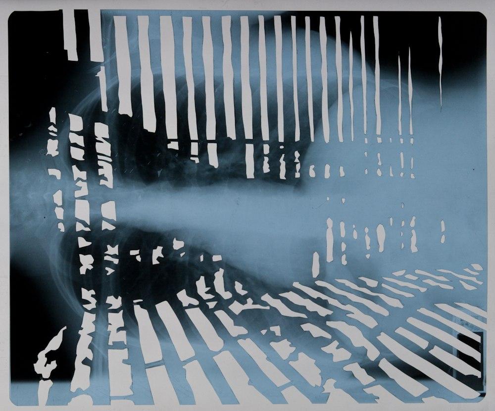 Frontière interne II (série), découpage des radiographies de poumons, 12 images 43cm x 35,5 cm