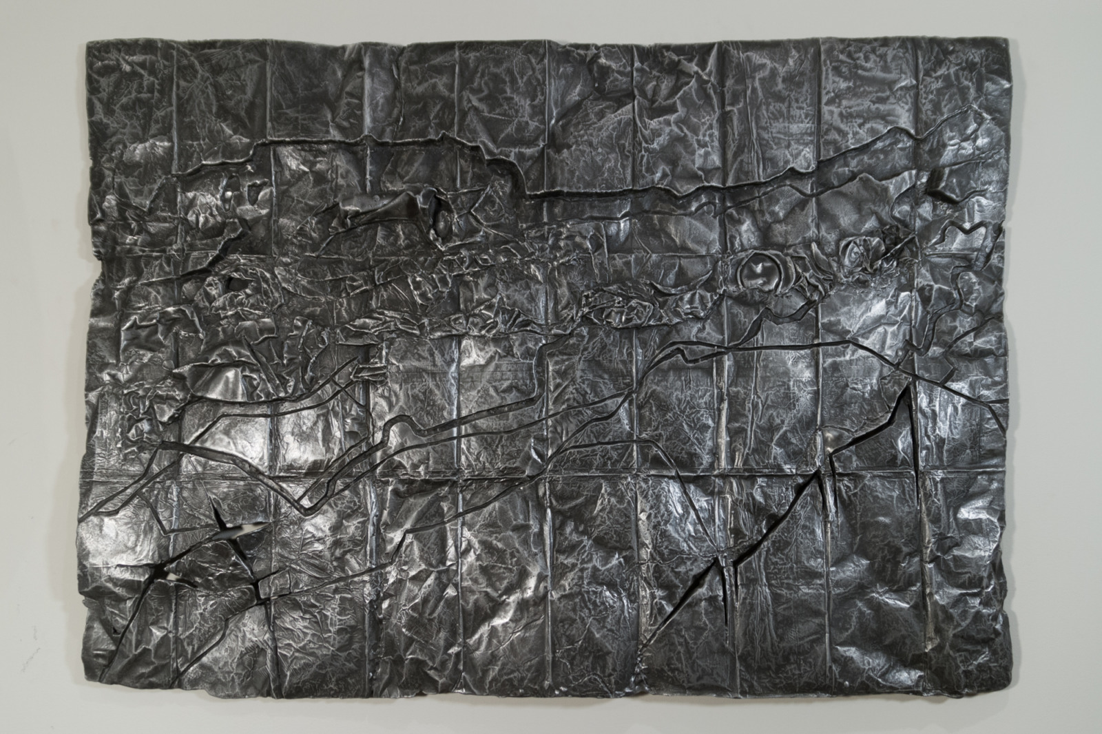Saint Lawrence River, Massena, NY, cast aluminum sculpture, 71 cm x 91cm x 2 cm, 2013-4.