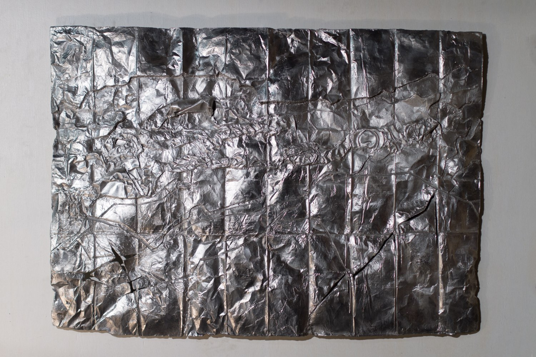 Saint Lawrence River, Massena, NY, cast aluminum sculpture, 71 cm x 91cm x 2 cm, 2013-4. Alcoa & former Reynolds aluminum factories settle $19.4 million for toxic PCB pollution in 2013.