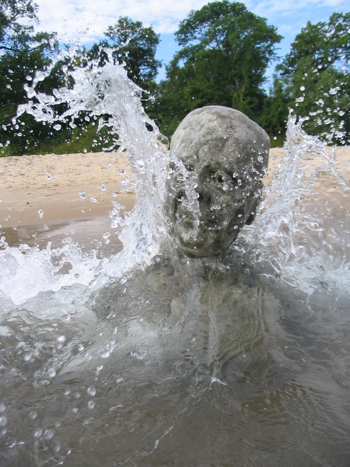 Sand Man (from dust to dust), 2004, beach sand and paraffin wax, dimensions variable approx. 40 x 50 x 60 cm.