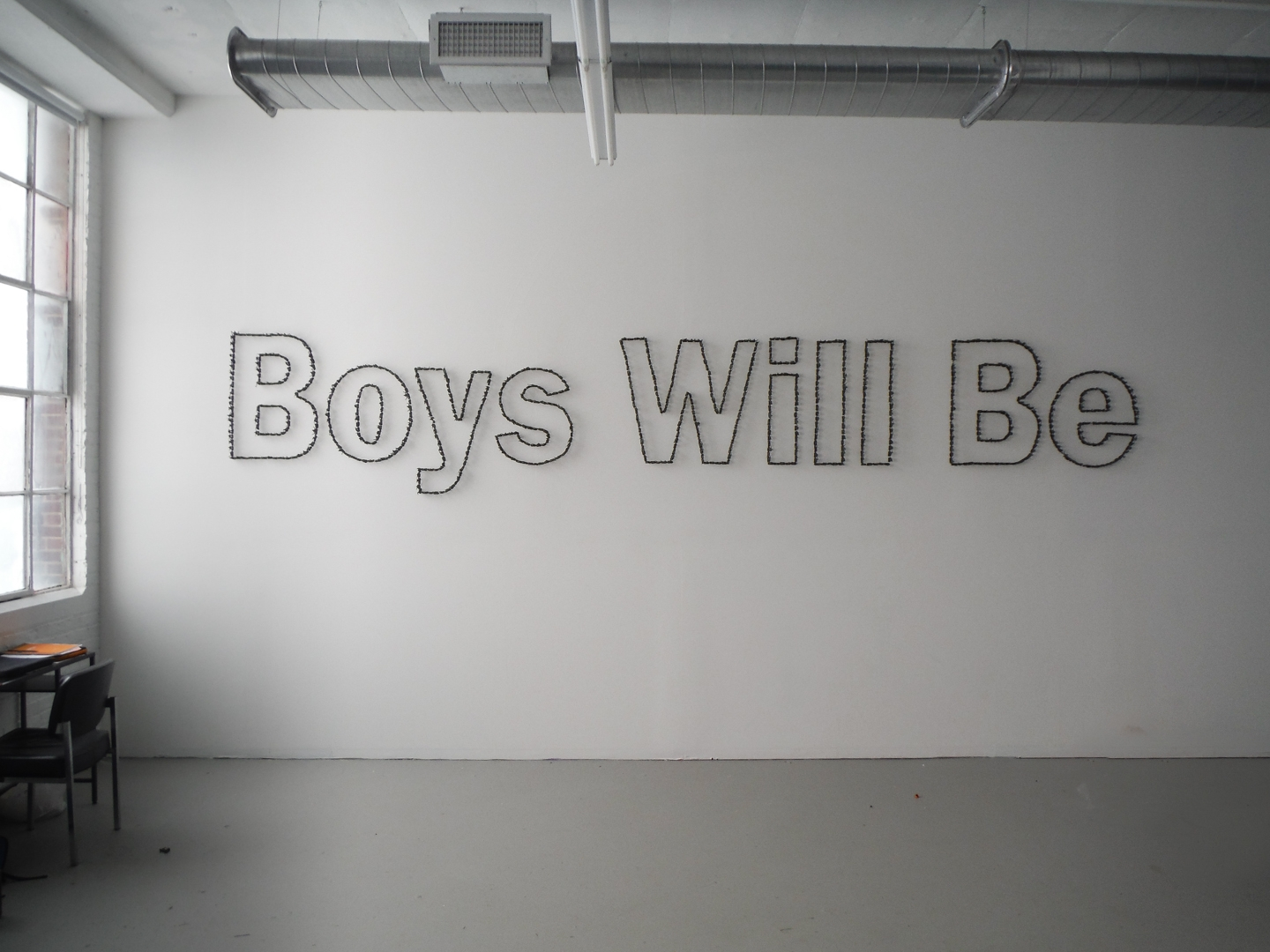 Boys Will Be, Site Specific Wall Installation, Plastic Toy Soldiers, wall adhesive,  approx. 1 m. tall x 5 m. wide, 2015, Ordinary Projects, Mana Fine Art, Chicago.