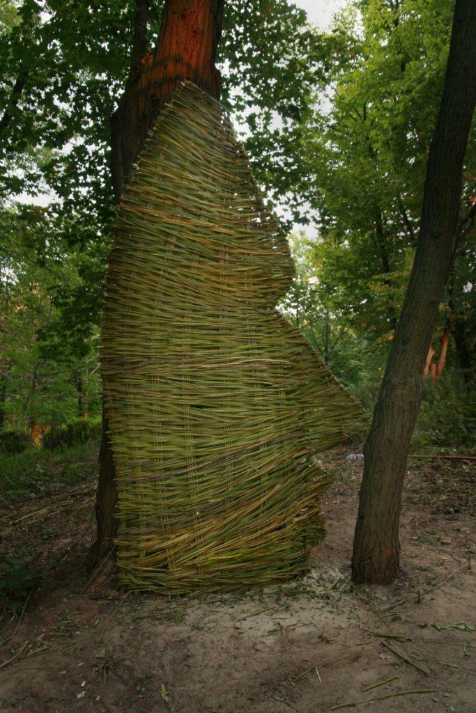 Facing, Wicker, 2007, Botanic Gardens, Kiev, Ukraine