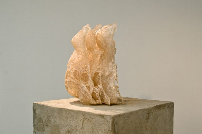 Pleine (Full), Clear Plastic Bags and transparent Resin, 2008-9, 38 cm x 35 cm x 55 cm, 5 elements
