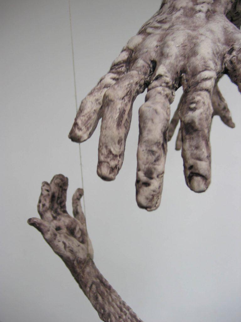 Hands I, 2007, ceramic, 2 elements (each 70 cm x 35 cm x 20 cm)