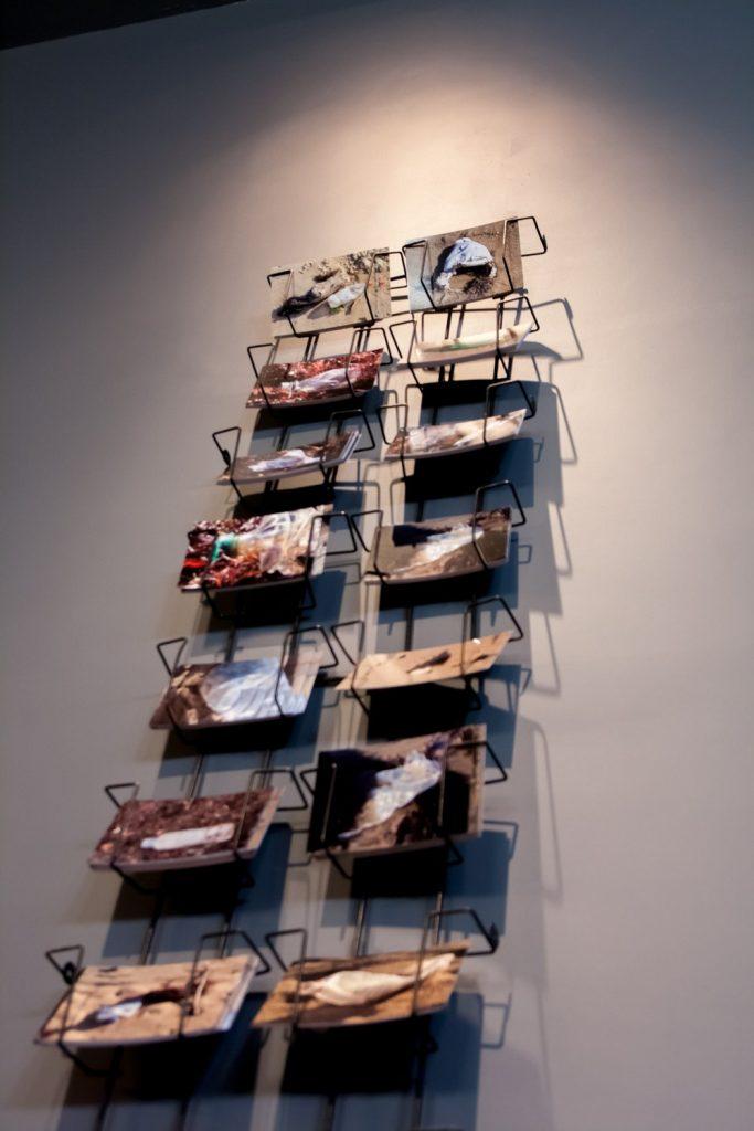 525,949,000 Minute Sculptures, series of 1,000 postcards, Installation 2013, Centre Culturel Saint Exupéry, Reims, France.