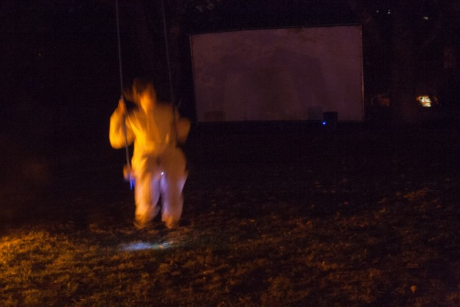 Swing: Flux and Reflux and Breathe Normalle (choreography by Evangelia Kolyra), 2012, Park in Progress (PIP), WEYA, Nottingham, UK