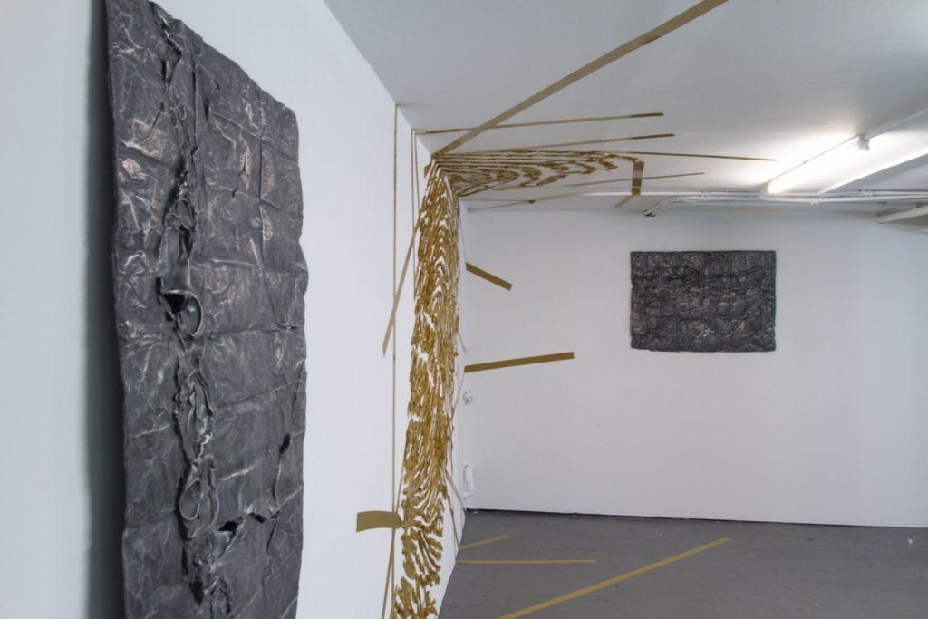 Simandou Mountain Range, Guinea, cast aluminum sculpture, 71 cm x 91cm x 2 cm, 2013-4.