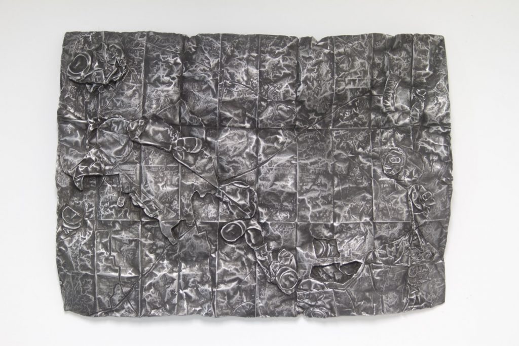 Ajka, Veszprém County, Hungary, cast aluminum sculpture, 71 cm x 91cm x 2 cm, 2013-4.