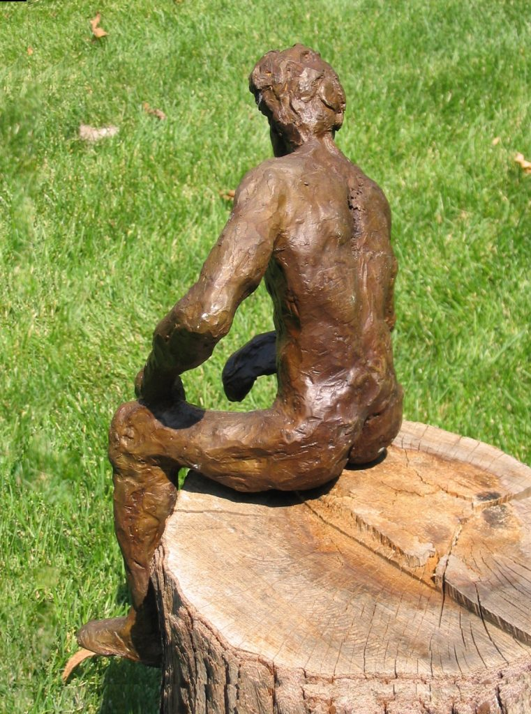 Sits Anywhere, 2004, 23 cm x 38 cm x 18 cm, Bronze