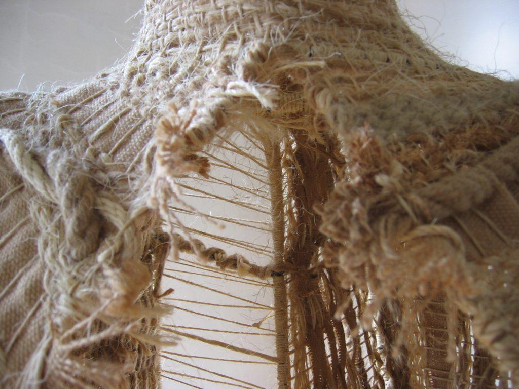 Rope Torso, 2005, Dimensions Variable, Welded Armature, Woven Hemp Rope, Twine, Sisal Rope, String