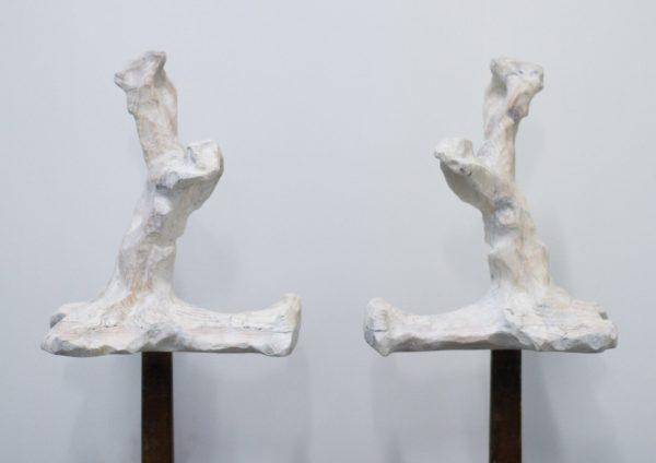 Palette-Palatin, sculpture from reclaimed pallet wood, 2018, 35 x 28 x 41 cm each