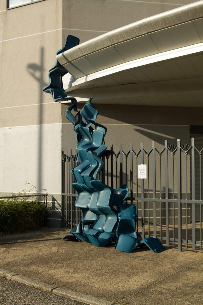 Immersion / Waterfall, 2020, Public Art Installation, Médiathèque Jules Verne, La Ricamarie