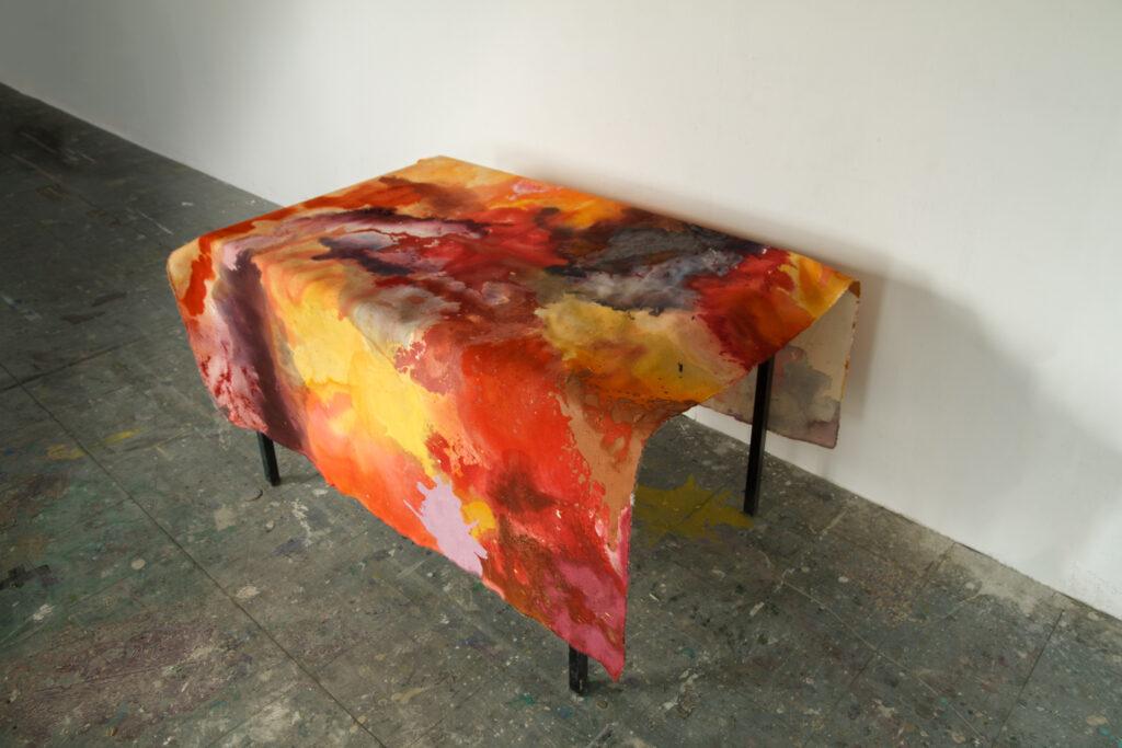 Skinscape 3B, 145 x 185 cm (toiles non tendues), Peinture acrylique et techniques mixtes, 2020