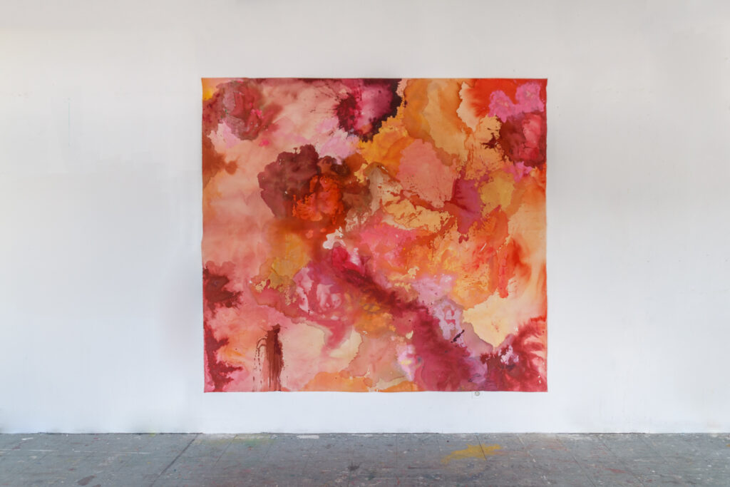 Skinscape 1B, 269 x 241 cm (toiles non tendues), Peinture acrylique et techniques mixtes sur canvas / toile en coton, 2020